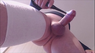 My solo 141 (Cumming stream from underneath with toothbrush)