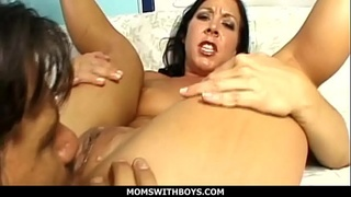 MomsWithBoys - Hot MILF Julie Night Anal