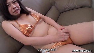 Cute got her hairy pussy drilled after giving an interview
