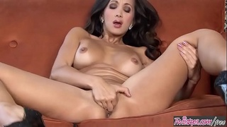 Asian milf (Katsuni) fingers her ass and pussy solo - Twistys