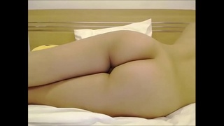 Asian girl shows off pussy