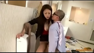 Office Lady I met on Blackwa.com Getting Her Hairy Pussy Fucked From Behind
