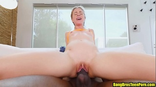 Petite girl Lilly Ford fucking her big black stepdad