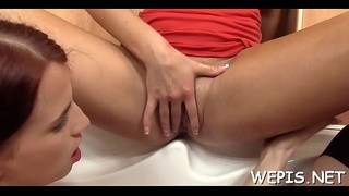 Fancy gals have a fun pussy drilling adter pissing on camera
