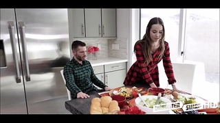 Two Hot Teen Daughters Jasmine Grey And Naomi Blue Decide To Swap Fuck Each Others Depressed Dad'_s During Thanksgiving Dinner