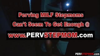 Asian MILF stepmom sucks a stepsons cock for camera