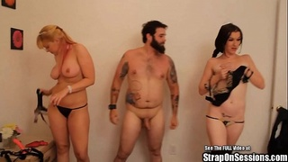 strap,threesome,peg,lactate,on,pegging,strap on