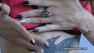 Pounding tattooed Latina amateur for a few bucks