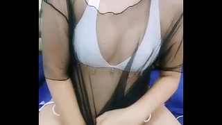 Asian stripper teasing