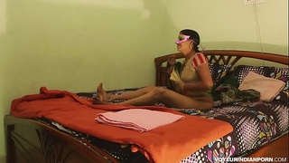 Sexy Desi Horny Bhabhi Amrita With Young Lover Passionate Fucking