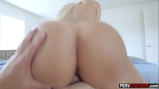 Dirty MILF stepmom fucks and sucks a stepsons big cock