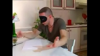 Mask anal party with cumshot in her pussy