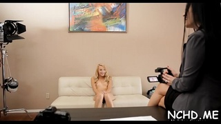 Hawt teen girl gives twat for intensive fucking at the casting