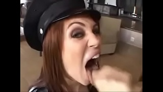 Sexy wife faith leon takes cum in her mouth