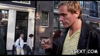 Slutty dude has some sexy fun with the amsterdam prostitutes
