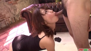 Yura Kurokawa loves the dick deep in her mouth and pussy - More at Japanesemamas com