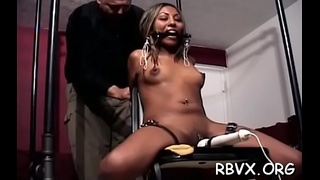 Large breasted whore enjoys getting bounded and manhandled