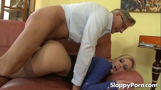 Old guy fucks Jessie Volt in her ass