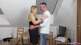 old,taboo,granny,german,roleplay,cum in mouth,facial