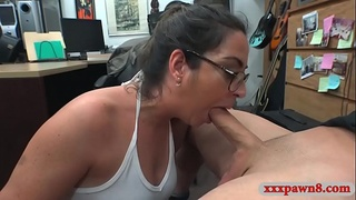 Luscious woman nailed by nasty pawn guy at the pawnshop