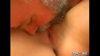 Aged dude gets his old dick soaked by fucking a younger playgirl