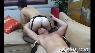 Females on obedient chap enjoying smothering and femdom