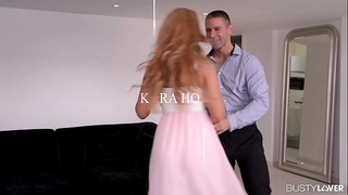 Busty blonde glamour beauty Kyra Hot gets her big tits fucked balls deep