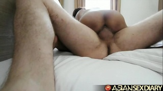 Asian Sex Diary - Filipina babe gets her pussy stuffed in hotel room