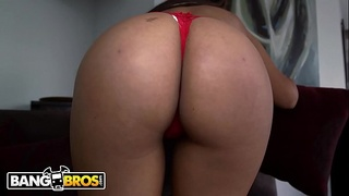 BANGBROS - Hot Colombian Maid With Big Tits Gives Up The Ass For Extra Pesos