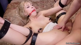 Huge tits step mom in threesome