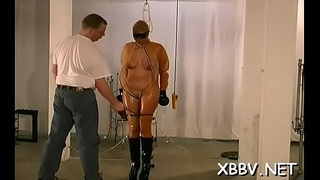 Hot fetish scenes with playgirl having her boobs tortured
