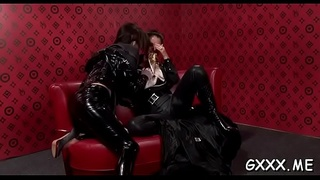 Sexy make-up session turns into a hardcore lesbo fuck fest