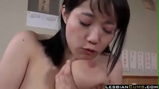 Busty Girls Fucking in Japanese Bar