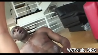 White babe is getting her anal drilled so well by ebon thug
