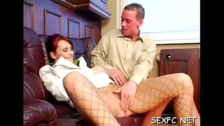 Horny chaps get lucky in fully dressed sex scenery