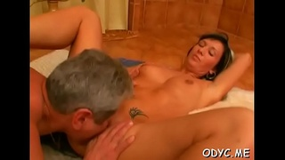 Charming non-professional slut enjoys 69 and rides old dude wildly