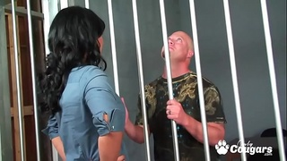 Sexy Prison Guard Isis Love Banged By Prisoner Dick
