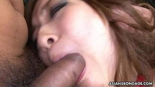 Captive Asian babe Aiko Nagai has bondage threesome with perverts