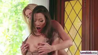Student and her stepmom fuck her teacher