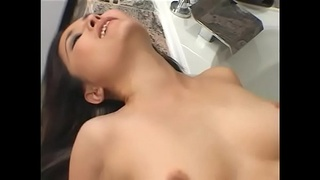 Sweet Asian slut Lacey Tom suck and fucks by dick in bathroom