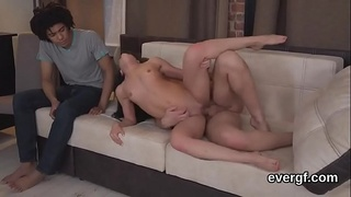 Dirt poor lover allows randy mate to penetrate his girlfriend for bucks