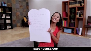 Cute Petite Teen Step Daughter Emily Willis Fucked By Step Dad After Giving Him Sexual Valentines Day Card POV