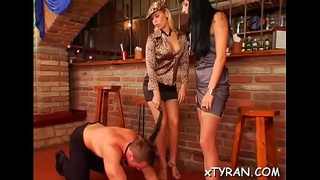 Bdsm fetish action with dude getting hawt wax and mouth screwed