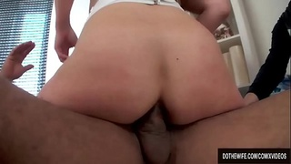 Wimpy Husband Watches His Wife Valentina Ross Take It Anally from a Stud