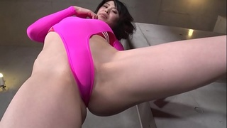 Ayaka Hirose High-leg leotard pink (part2) legs-fetish image video no sound solo