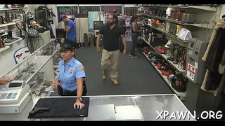 Check out how sex in shop is happening previous to the camera