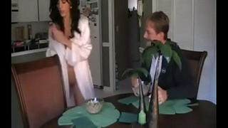 Step Mom Lets Him Rub One off on Her