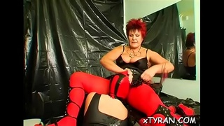 Beauty'_s tittes licked and legs widen wide for toy insertion