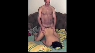 Cute polish girl fucked in ass by old man