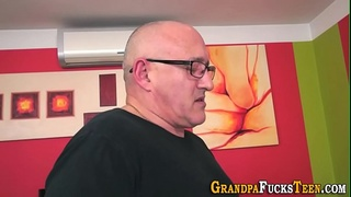 Teen tongued by old man